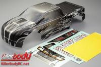 Body - Monster Truck - Scale - Pre-Painted - Rubik - Knight pattern - fits Traxxas E-Maxx/Revo