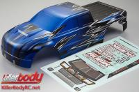 Body - Monster Truck - Scale - Painted - Rubik - Knight-blue pattern - fits Traxxas E-Maxx