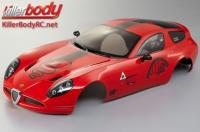 Body - 1/10 Touring / Drift - 195mm - Scale - Finished - Box - Alfa Romeo TZ3 Corsa - Red