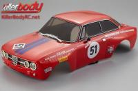 Body - 1/10 Touring / Drift - 195mm - Scale - Finished - Box - Alfa Romeo 2000 GTAm - Racing