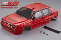 Body - 1/10 Touring / Drift - 195mm - Scale - Finished - Box - Lancia Delta HF Integrale - Red