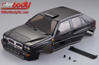 Body - 1/10 Touring / Drift - 195mm - Scale - Finished - Box - Lancia Delta HF Integrale - Black