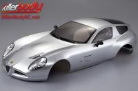 Body - 1/10 Touring / Drift - 195mm - Scale - Finished - Box - Alfa Romeo TZ3 Corsa - Silver