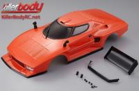 Body - 1/10 Touring / Drift - 195mm - Scale - Finished - Box - Lancia Stratos (1977 Giro d'Italia) - Orange