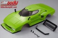 Body - 1/10 Touring / Drift - 195mm - Scale - Finished - Box - Lancia Stratos (1977 Giro d'Italia) - Green