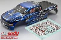 Body - Monster Truck - Scale - Finished - Rubik - Knight-blue pattern - fits Traxxas E-Maxx