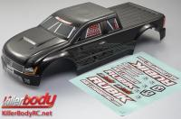 Body - Monster Truck - Scale - Finished - Rubik - Carbon fiber pattern - fits Traxxas E-Maxx