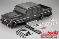 Body - 1/10 Crawler - Scale - Finished - Horri-Bull - Carbon fiber graphics - fits Axial 2012 Jeep Wrangler