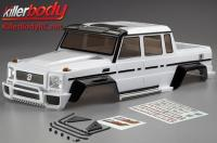 Body - 1/10 Crawler - Scale - Finished - Box - Horri-Bull - White - fits Axial 2012 Jeep Wrangler