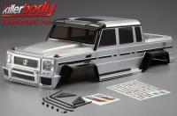 Body - 1/10 Crawler - Scale - Finished - Box - Horri-Bull - Silver - fits Axial 2012 Jeep Wrangler