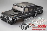 Body - 1/10 Crawler - Scale - Finished - Box - Horri-Bull - Black - fits Axial 2012 Jeep Wrangler