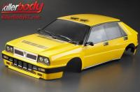Body - 1/10 Touring / Drift - 195mm - Scale - Finished - Box - Lancia Delta HF Integrale 16V - Yellow