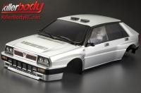 Body - 1/10 Touring / Drift - 195mm - Scale - Finished - Box - Lancia Delta HF Integrale 16V - Silver