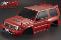 Body - 1/10 Crawler - Scale - Finished - Box - Mitsubishi Pajero EVO 1998 - Red - fits Traxxas Telluride 4X4 & Tamiya HILUX High-Lift