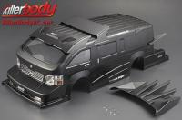 Body - 1/10 Touring / Drift - 195mm - Scale - Finished - Box - Furious Angel - Black