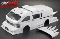 Body - 1/10 Touring / Drift - 195mm - Scale - Finished - Box - Furious Angel - White