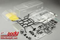 Body - 1/10 Crawler - Scale - Clear - Marauder - fits Axial SCX10 Chassis