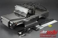 Body - 1/10 Crawler - Scale - Finished - Box - Marauder - Gunmetal - fits Axial SCX10 Chassis