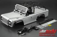 Body - 1/10 Crawler - Scale - Finished - Box - Marauder - Silver - fits Axial SCX10 Chassis