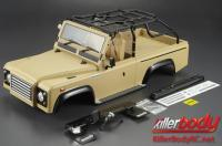 Body - 1/10 Crawler - Scale - Finished - Box - Marauder - Mat Desert Military Color - fits Axial SCX10 Chassis
