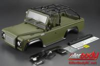 Body - 1/10 Crawler - Scale - Finished - Box - Marauder - Mat Military Green - fits Axial SCX10 Chassis