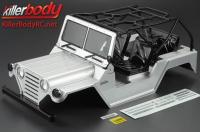 Body - 1/10 Crawler - Scale - Finished - Box - Warrior - Silver - fits Axial SCX10 Chassis