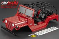 Body - 1/10 Crawler - Scale - Finished - Box - Warrior - Red - fits Axial SCX10 Chassis