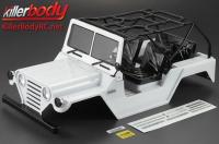 Body - 1/10 Crawler - Scale - Finished - Box - Warrior - White - fits Axial SCX10 Chassis