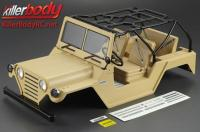 Body - 1/10 Crawler - Scale - Finished - Box - Warrior - Mat Desert Military Color - fits Axial SCX10 Chassis
