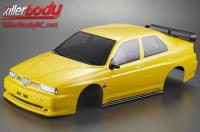 Body - 1/10 Touring / Drift - 195mm - Scale - Finished - Box - Alfa Romeo 155 GTA - Yellow