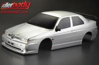 Body - 1/10 Touring / Drift - 195mm - Scale - Finished - Box - Alfa Romeo 155 GTA - Silver