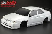 Body - 1/10 Touring / Drift - 195mm - Scale - Finished - Box - Alfa Romeo 155 GTA - White