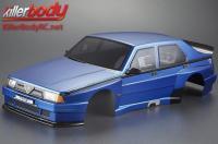 Body - 1/10 Touring / Drift - 195mm - Scale - Finished - Box - Alfa Romeo 75 Turbo Evoluzione - Blue