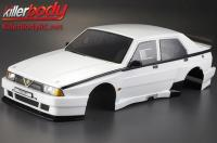 Body - 1/10 Touring / Drift - 195mm - Scale - Finished - Box - Alfa Romeo 75 Turbo Evoluzione - White