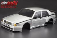 Body - 1/10 Touring / Drift - 195mm - Scale - Finished - Box - Alfa Romeo 75 Turbo Evoluzione - Silver