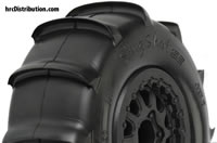 "Tires - 1/10 Short Course - 2.2""/3.0"" - Mounted on Renegade Black Wheels - Slash and Blitz Rear, Slash  4x4 Front or Rear & Blitz Front (with modification) - Sling Shot SC XTR"