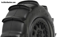"Tires - 1/10 Short Course - 2.2""/3.0"" - Mounted on ProTrac Renegade Black Wheels - Slash 2WD Front or Rear and SC10 Rear (using 12mm adapter kit) - Sling Shot SC XTR"