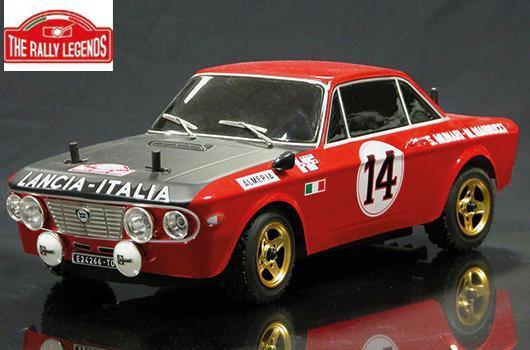 Rally Legends - EZRL072 - Car - 1/10 Electric - 4WD Rally - RTR - Waterproof ESC - Lancia Fulvia 1600 HF MonteCarlo 1972