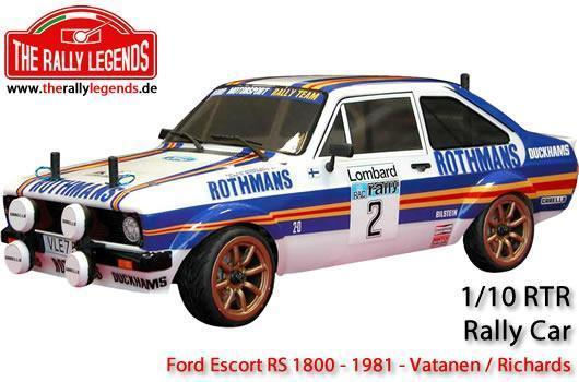 Rally Legends - EZRL081 - Car - 1/10 Electric - 4WD Rally - RTR - Waterproof ESC - Ford Escort RS 1800 1981