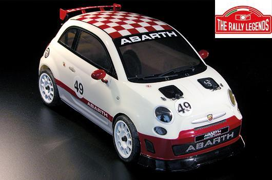 Rally Legends - EZQR500 - Car - 1/10 Electric - 4WD Touring - RTR - Abarth 500 Challenge