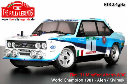 Rally Legends - EZRL034 - Car - 1/10 Electric - 4WD Rally - RTR - Fiat 131 Abarth 1978 WRC