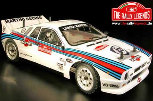 Rally Legends - EZRL2435 - Body - 1/10 Rally - Scale - Clear - Lancia Delta S4 with stickers and accessories
