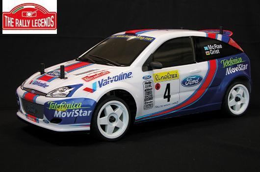 Rally Legends - EZRL001 - Car - 1/10 Electric - 4WD Rally - RTR - Waterproof ESC - Ford Focus WRC McRae / Grist 2001