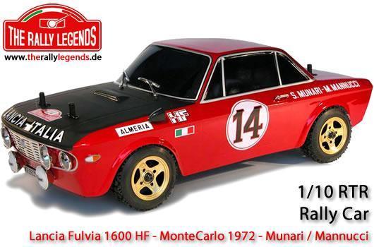 Rally Legends - EZRL076 - Car - 1/10 Electric - 4WD Rally - ARTR - Waterproof ESC - Lancia Fulvia 1600 HF MonteCarlo 1972 - PAINTED Body