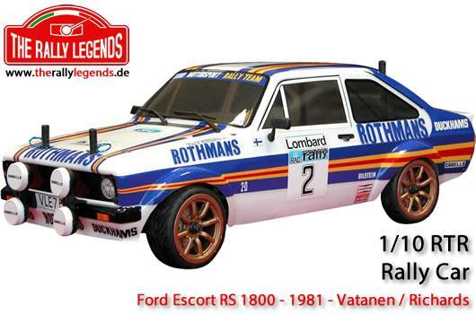 Rally Legends - EZRL083 - Car - 1/10 Electric - 4WD Rally - ARTR - Waterproof ESC - Ford Escort RS 1800 1981 - PAINTED Body
