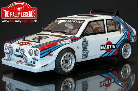 Rally Legends - EZRL0875 - Car - 1/10 Electric - 4WD Rally - ARTR - Waterproof ESC - Lancia Delta S4 - CLEAR Body