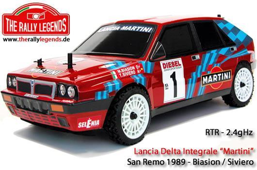Rally Legends - EZRL0896 - Car - 1/10 Electric - 4WD Rally - ARTR - Waterproof ESC - Lancia Delta Integrale Red - PAINTED Body