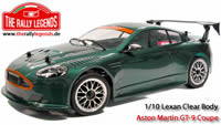 Body - 1/10 Rally - Scale - Clear - Aston Martin GT-9 coupe with stickers and accessories