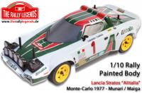 Body - 1/10 Rally - Scale - Painted - Lancia Stratos Alitalia