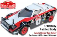 Body - 1/10 Rally - Scale - Painted - Lancia Stratos 1978 Red/Black